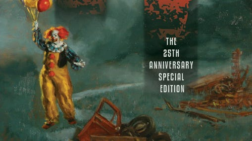 The 25th anniversary book cover of 'IT' by Stephen King.