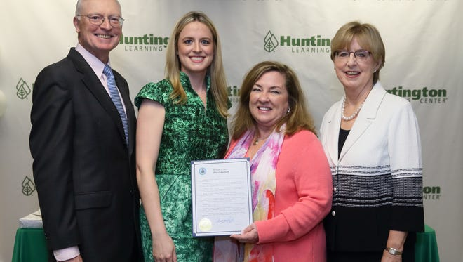 Ray Huntington, Anne Huntington, Mayor Dianne Didio and Eileen Huntington