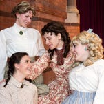 "Ithaca College students Ann Barrett (Meg), Katherine Clemons (Amy), Laura McCauley (Beth) and Rachel Ozols (Jo) play the March sisters in Mark Adamo's operatic adaptation of Louisa May Alcott's novel ""Little Women."""