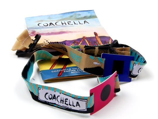 Coachella's similar wristbands.