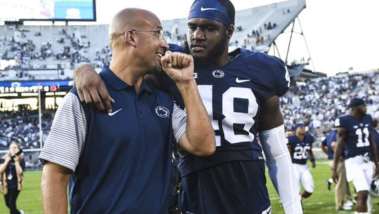 Head coach James Franklin must keep his young players