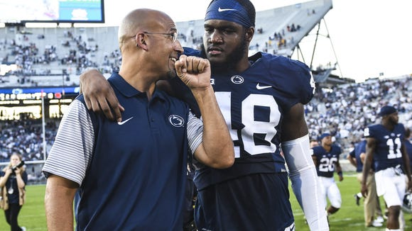 Head coach James Franklin must keep his young players together now more than ever. Promising defensive end Shareef Miller is one of those promising stars-to-be.