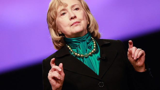 NEW ORLEANS, LA - JANUARY 27:  Former U.S. Seceratary of State Hillary Clinton speaks at the 10th National Automobile Dealers Association Convention on January 27, 2014 in New Orleans, Louisiana. According to reports, Clinton said during a question and answer session at the convention that he biggest regret was the attack on Americans in Benghazi. (Photo by Sean Gardner/Getty Images)