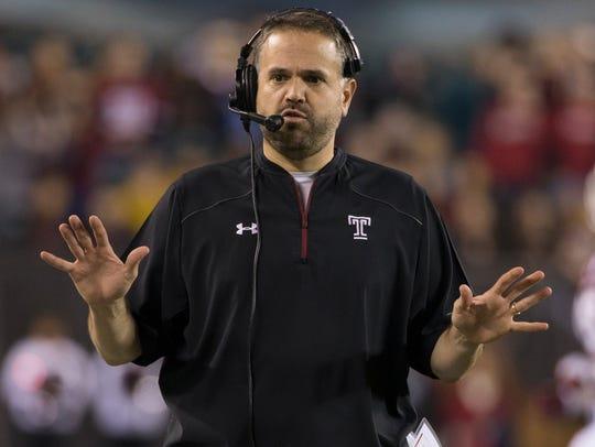 In this Nov. 28, 2015, file photo, Temple head coach
