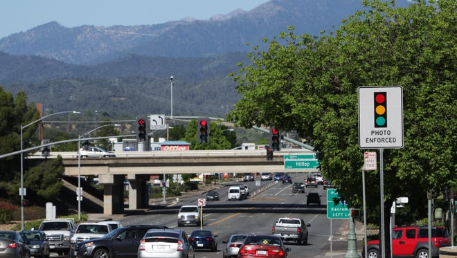File photo - A view of Hilltop Avenue and Cypress Avenue in Redding.