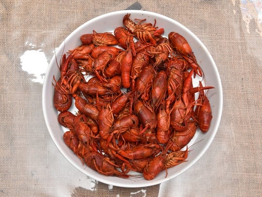 Boiled crawfish at Sal & Phil's in Ridgeland.