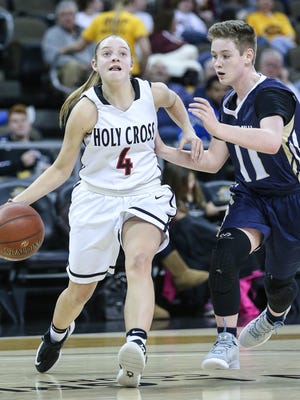 Olivia Crigler and the Holy Cross Indians will play in the state quarterfinals Friday.