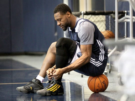 Memphis Grizzlies Tony Allen will turn 35 during the season, but is expected to start and bring his trademark grit-and-grind defensive mindset.  (Nikki Boertman/The Commercial Appeal)