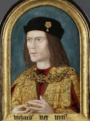 A  portrait of Britain's King Richard III, who died