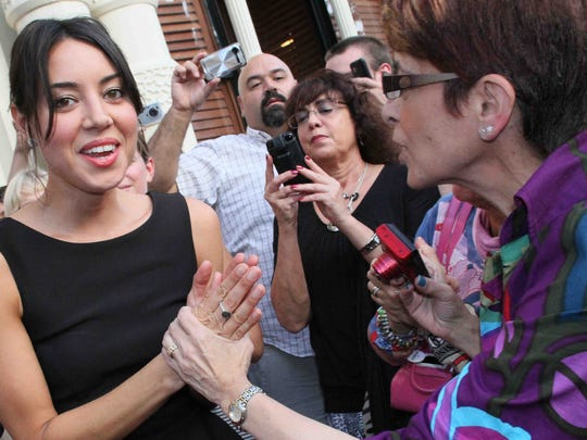 Actress and Wilmington native Aubrey Plaza stops on