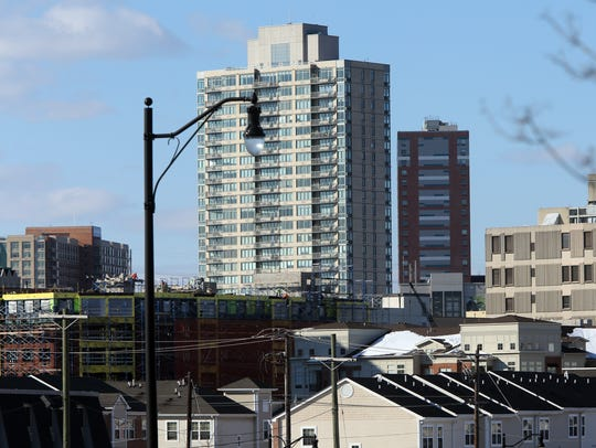 New luxury apartment towers in the downtown New Brunswick