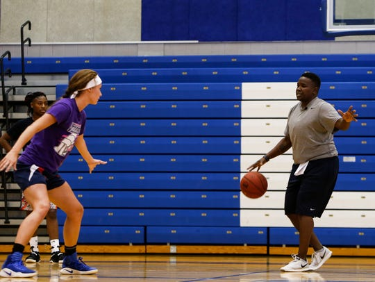 First-year Lansing Community College women's basketball