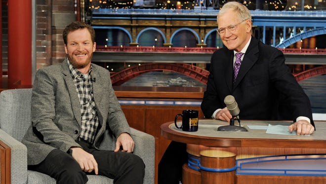 Dale Earnhardt Jr. enjoyed his first time on the couch for 'The Late Show with David Letterman.'
