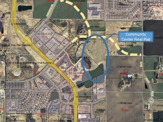 Location of the Sartell Community Center's final plat.