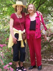 Rosemary Molloy (right) and her daughter, Alison, who was born on Thanksgiving Day 56 years ago.