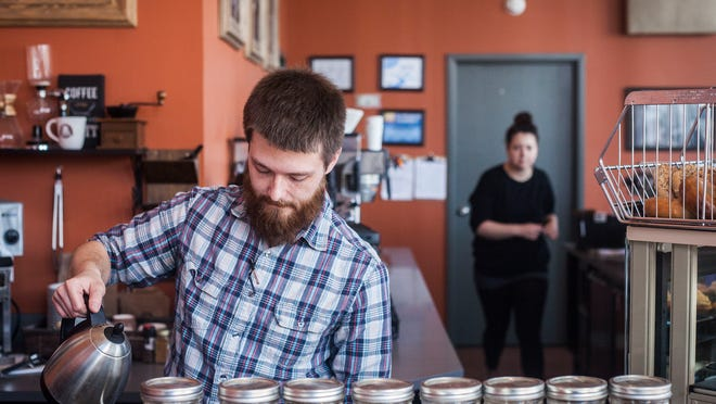 The Caffeinery in downtown Muncie celebrated its one-year anniversary Tuesday.