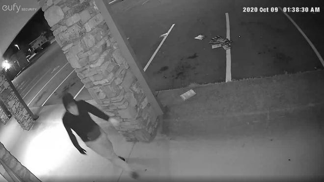 Security footage captured a suspect vandalizing the Henderson County Republican Party Headquarters early Friday morning.
