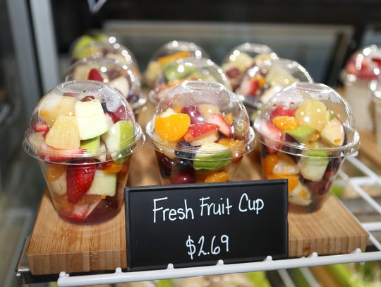 Fruit cups are all the rage at the Ocelot Cafe.