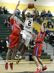 Rush-Henrietta's Shamire Broyld (2) splits the defense
