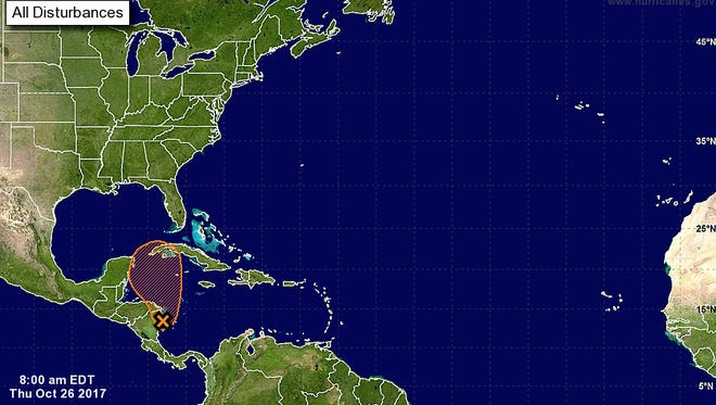 National Hurricane Center forecasts say Phillipe could develop over the next five days.