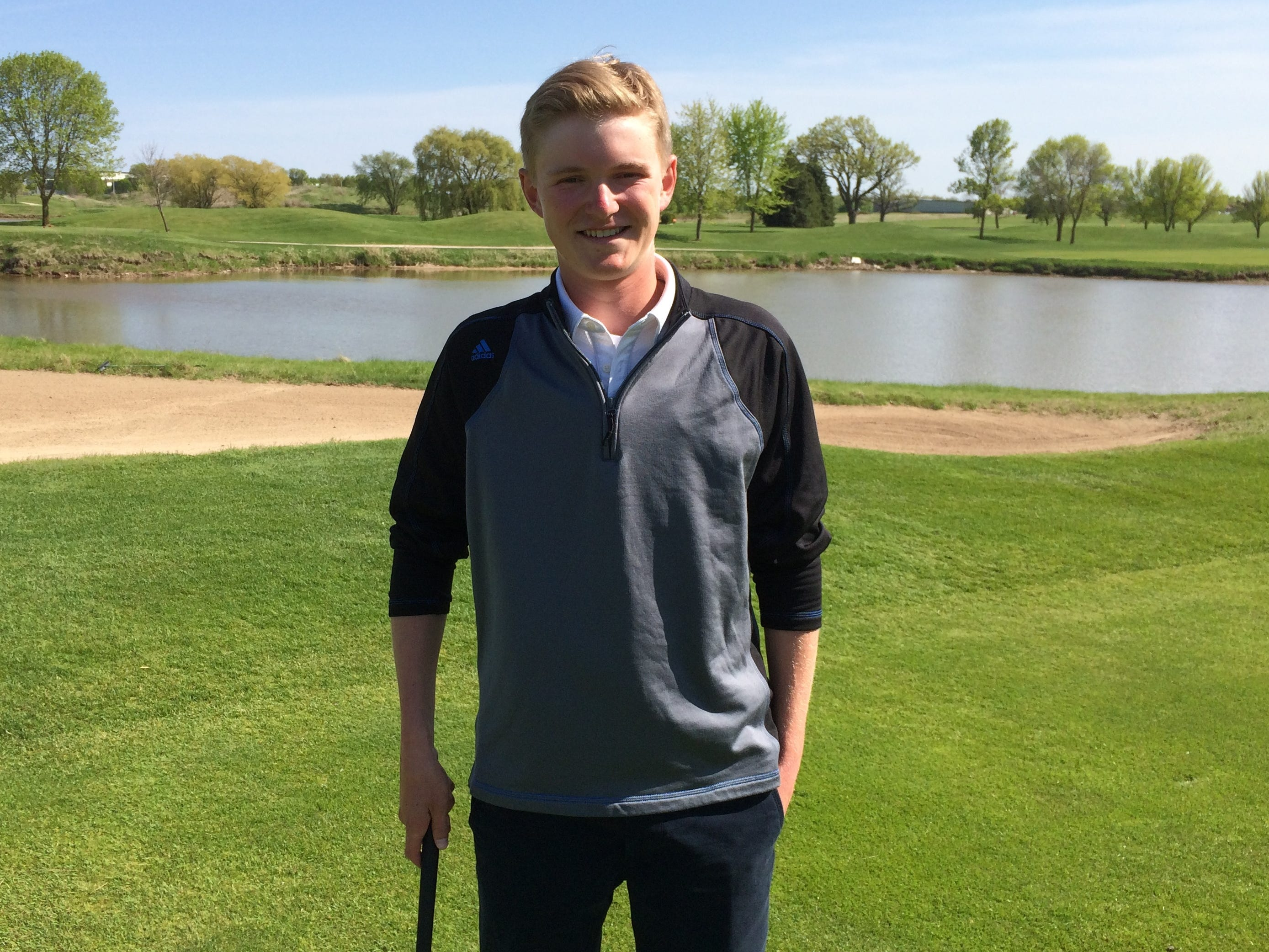 St. Mary's Springs' Brady Sarauer has been one of the top golfers in the area this season.