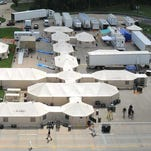 A mobile hospital from North Carolina temporarily replaced the Winston County Medical Center in Louisville.