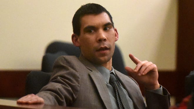 Defendant Cody Soto listens on Jan. 20 during his trial at the Eleventh Judicial District Court in Aztec.