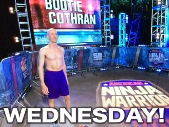 Promo for Bootie Cothran's appearance Wednesday night on American Ninja Warrior.
