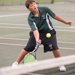 Pennfield's #1 singles player Joe Larsen.