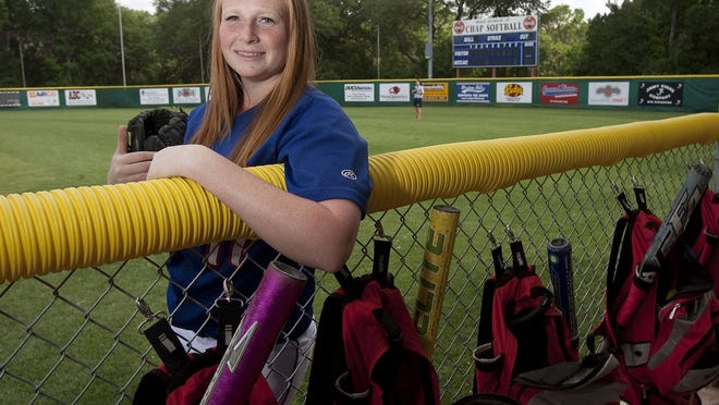 Hannah Slovacek ended her career at Westlake as the school's all-time leader in  earned run average and innings pitched. [Laura Skelding/AMERICAN-STATESMAN]   .