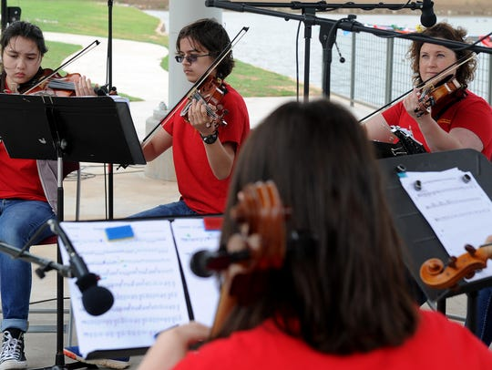 Members of the Wichita Falls Youth Symphony Orchestra