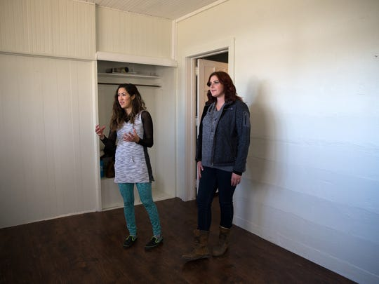 Melissa Silversmith and her business partner, Kortney Vick, talk on Thursday about their plans for a new art studio and gallery.