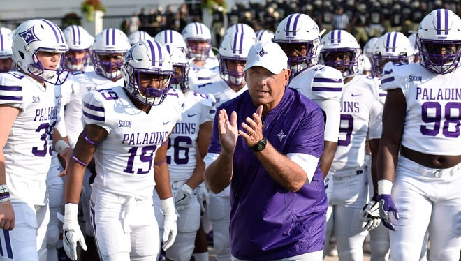 Coach Clay Hendrix and the Furman Paladins visit rival Wofford Saturday in the FCS playoffs.