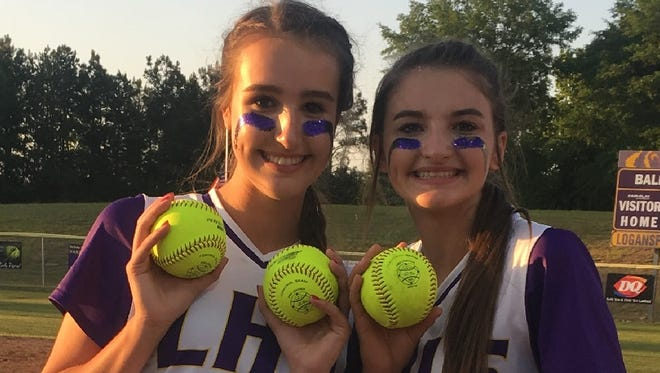 Logansport's Riley Blount and MaraLee Briggs homered in Friday's second round Class 1A state playoff game.