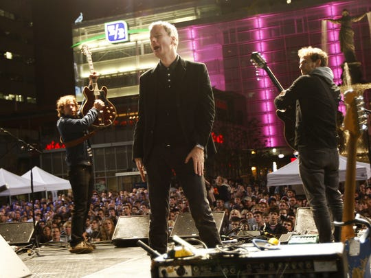 The National performed in 2008 on Fountain Square to support Barack Obama's presidential bid.