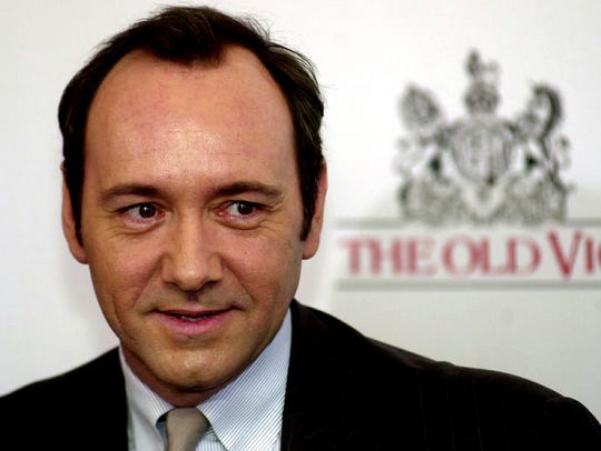 Kevin Spacey attends a press conference in London in