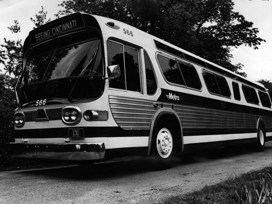 AUGUST 11, 1973: Cincinnati Metro bus. The Enquirer/Gordon