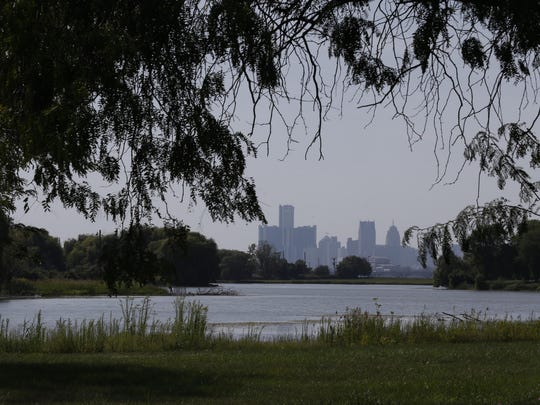 Detroit as seen from the city's Belle Isle park.
