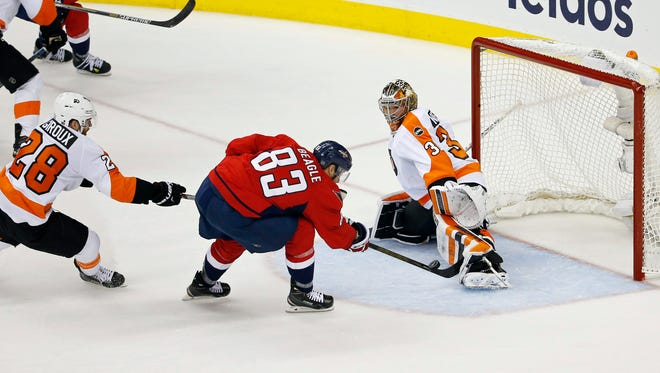 Michal Neuvirth made 44 saves in a shutout win for the Flyers, sending the series back to Philly for Game 6 Sunday.