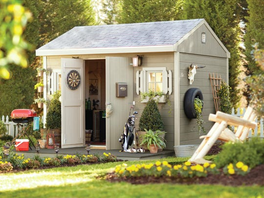 Who says she sheds just have to be for women? Men also can create their own space outside.