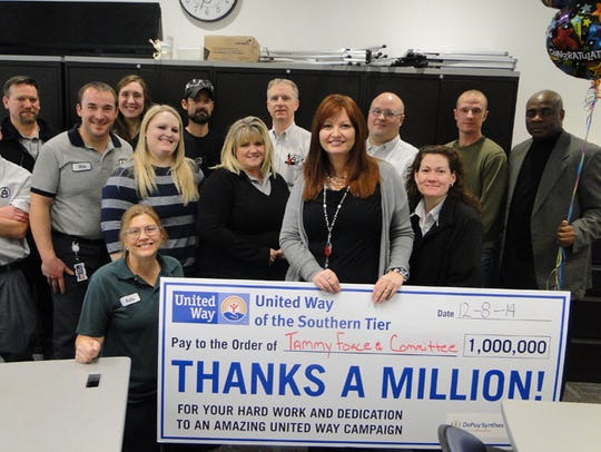The DePuy Synthese United Way committee raised more