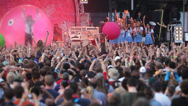 The Flaming Lips perform at Firefly Music Festival in 2012.