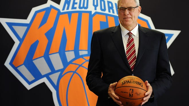 This will be new team president Phil Jackson?s first time as an executive and the Knicks say he will be in charge of all basketball decisions.  Getty Images NEW YORK, NY - MARCH 18:  Phil Jackson stands for photos during his introductory press conference as President of the New York Knicks at Madison Square Garden on March 18, 2014 in New York City.  (Photo by Maddie Meyer/Getty Images) *** BESTPIX ***