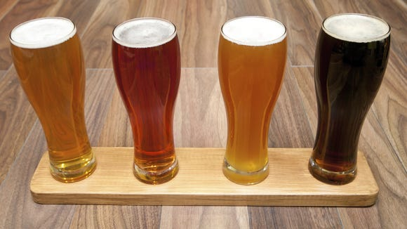 A flight of beer.