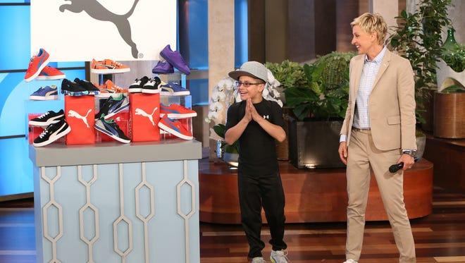 "Mace Maya appears on the ""Ellen"" show on April 23, 2014."