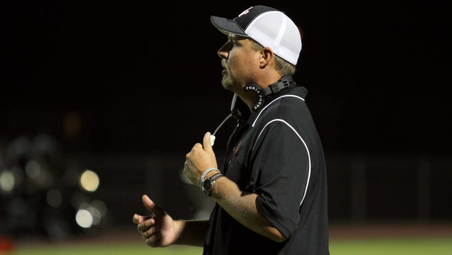 Williams Field High School football coach Steve Campbell .