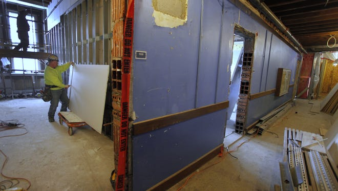 Renovation work at School 58 earlier this year.