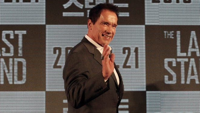 Former Calif. governor Arnold Schwarzenegger is acting and editor of 'Muscle and Fitness' magazine.