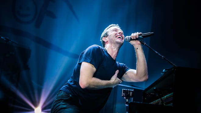 Chris Martin of Coldplay performs at the 'Under 1 Roof' concert  in London.