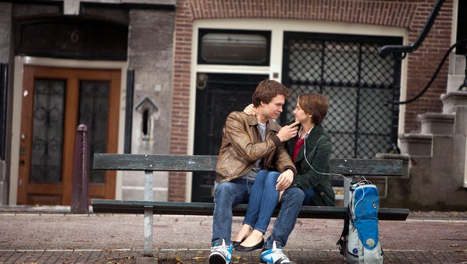 """Ansel Elgort and Shailene Woodley in a scene from """"The Fault in Our Stars."""""""